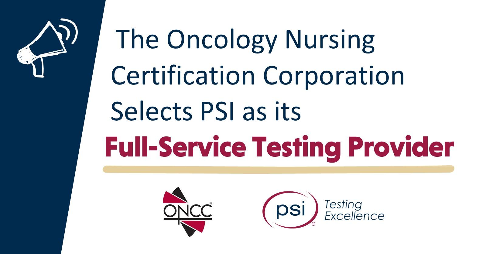 certification oncc oncology nursing corporation psi